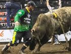 BUCKING ACTION: Bullfighter Shane Simpson will place his body on the line to protect the bull riders at Saturday night's PBR show at the Virgin Australia Stadium.