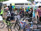 Today's On Ya Bike festivities in Coffs Harbour's city centre were attended by about 250 people.