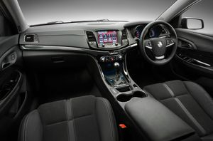 Inside the SV6 Holden Commodore Sportwagon.