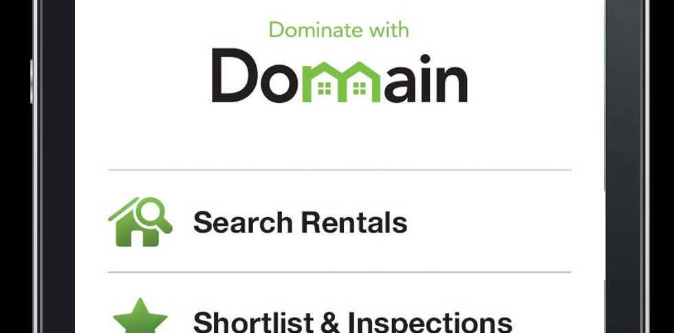 The new Domain rent app.