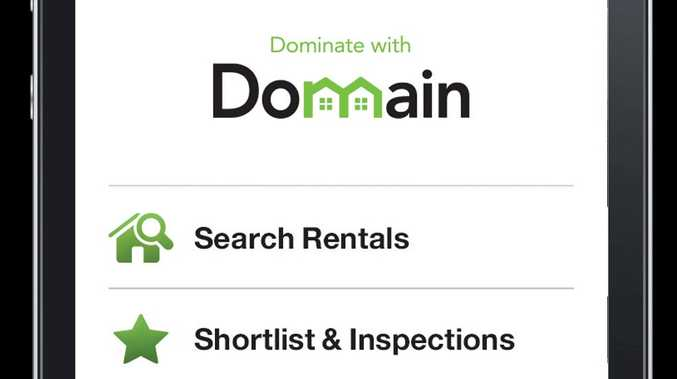 The new Domain rent app.