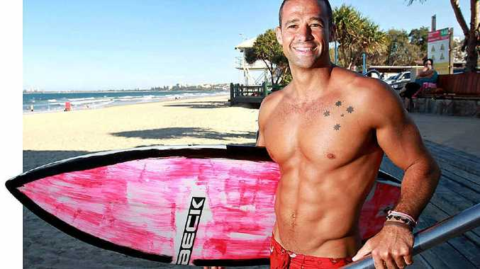 SURF'S UP: Big Brother contestant and now evictee, Matt Filippi, is back home on the Coast.