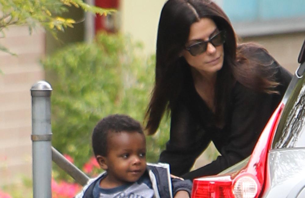 Sandra Bullock with her son Louis.