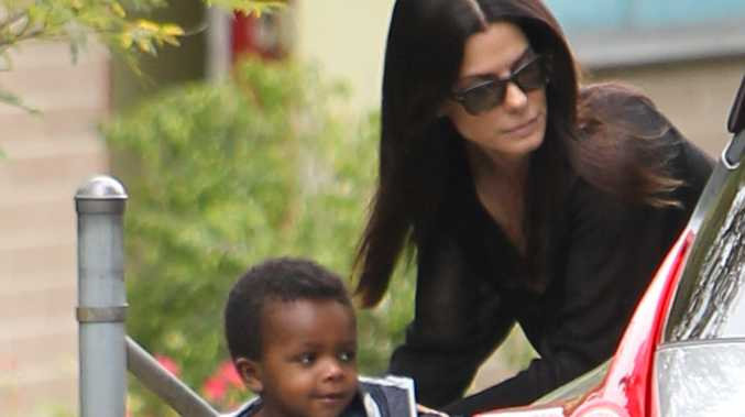 Sandra Bullock with her son Louis.