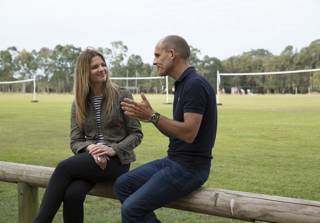 Julia Zemiro and Carl Barron on the ABC-TV show Julia Zemiro: Home Delivery. Photo ABC TV
