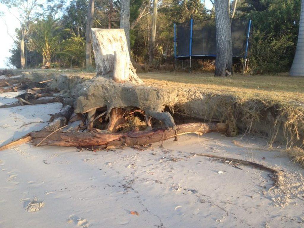 Severe erosion has left Toogoom homeowners in fear of losing their properties.
