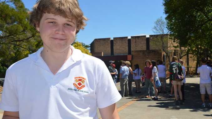 Nick Short has never missed a day of school in 12 years. Photo Georja Ryan / Daily Examiner