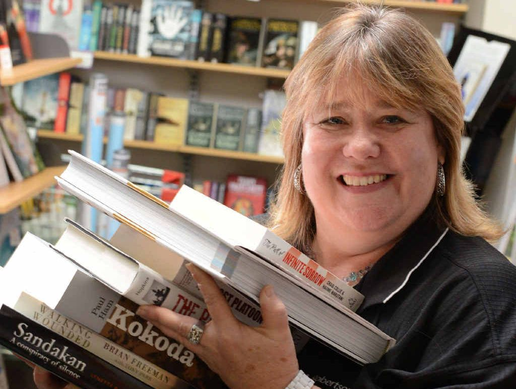 NEVER LOST FOR WORDS: Angus and Robertson book store manager Angie Niebel has won the Best Job in Town competition.