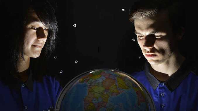 STAR GAZING: Bundamba State High School student Brad Van Cooten is heading to NASA for a school trip.