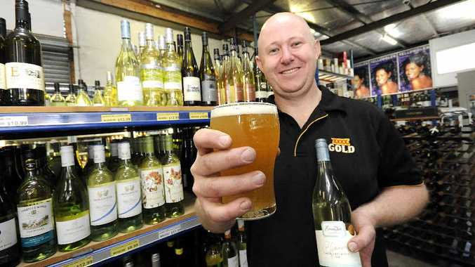 CHANGING TASTES: Bottle shop attendant David Robertson of the Station Hotel, South Lismore.