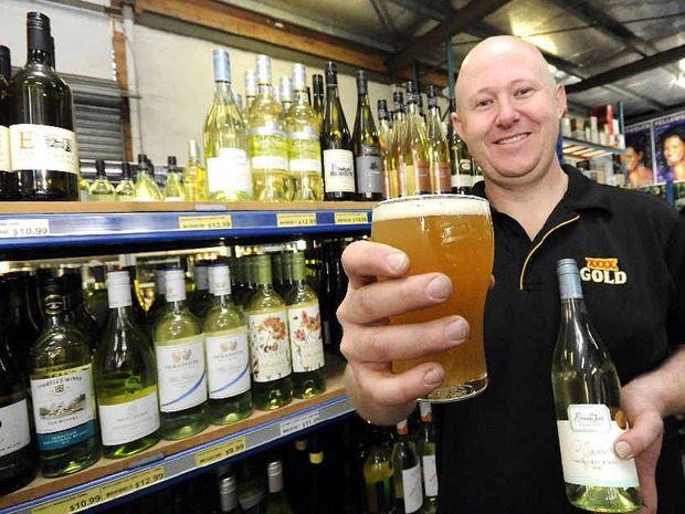 CHANGING TASTES: Bottle shop attendant David Robertson of the Station Hotel, South Lismore.