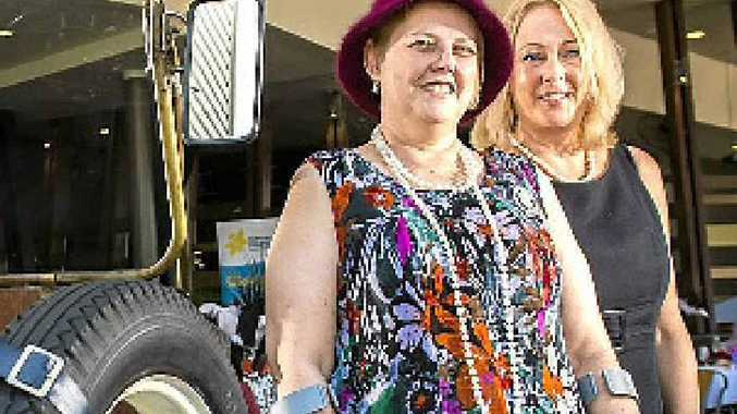 Cancer survivor Liz Norris and corporate partnership manager Sharon Hartley at the Great Gatsby Garden Party at the Yaralla Sports Club.