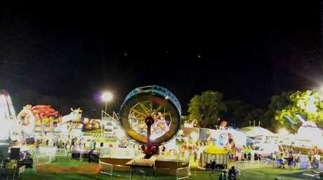 Strange lights hovering over Queens Park during the opening night of the 2013 Toowoomba Carnival of Flowers.