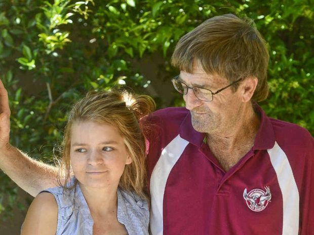 Tracey-Lee Schumahcher and her dad Graeme are looking to raise money to move to Sydney for a lung transplant for Tracey-Lee.