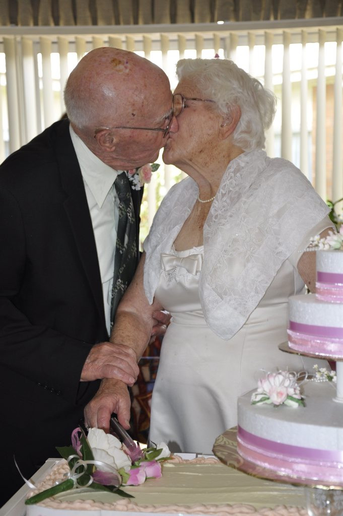 Ken and Else Eiser celebrate their 73rd wedding anniversray with a spring wedding where they renewed their vows.