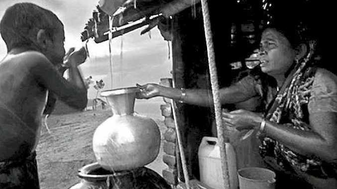 SNAP: Winner of the 2012 open category: Rain – the source of drinking water. Photo: Khalid Rayhan Shawon, Bangladesh