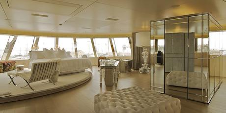 Superyacht 'A's master bedroom.