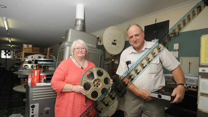Kyogle cinema is going digital Margaret Olive cinema floor manager, and Jim Crawter Depity Chairman Kyogle Cinema.