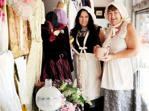 Costumes on sale at Lifeline to mark Hervey Bay's 150th
