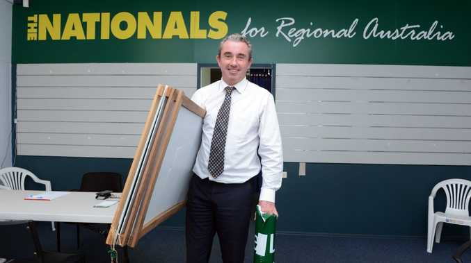 Member for Page Kevin Hogan prepares to move office. Photo Cathy Adams / The Northern Star