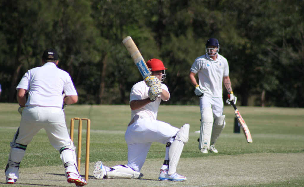 Kaden Dickfos shows he hasn't lost his touch in the off-season, smashing a barnstorming 67 runs on Saturday afternoon.