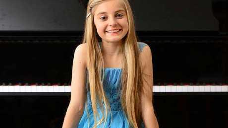 Thirteen-year-old Australia's Got Talent contestant Paris Morgan of Voce Bella Singing Studio.