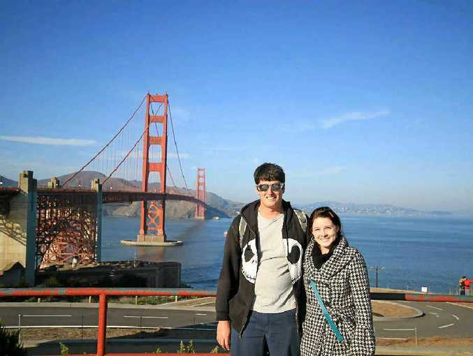 Wade and Nicole Fuge check out the sights in San Francisco.