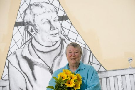 Sandy Pottinger features in artist's Elysha Gould's art installation, Real Stories Real People