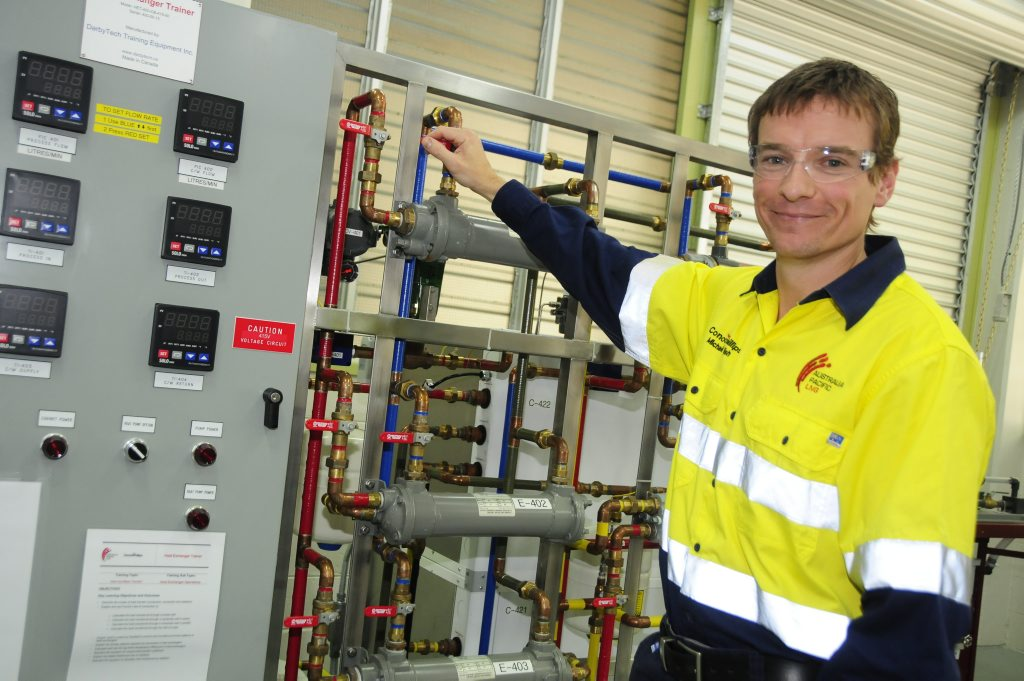 Michael English moved from the Northern Territory to train as an LNG operator in Gladstone.