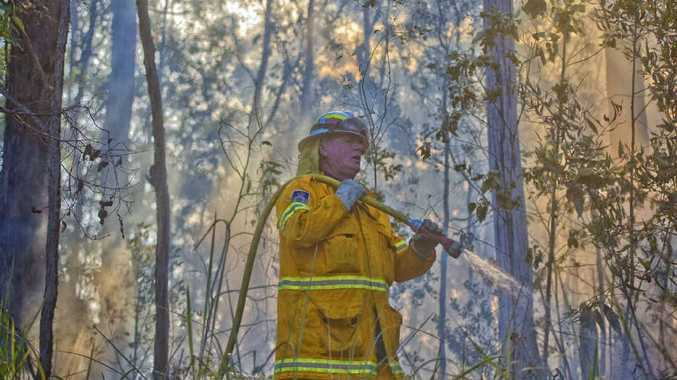 FIGHTING: Deputy captain of Coutts Crossing Rural Fire Service Bob Harbourd is one of many volunteers who work to keep our communities safe during summer. Photo: Adam Hourigan