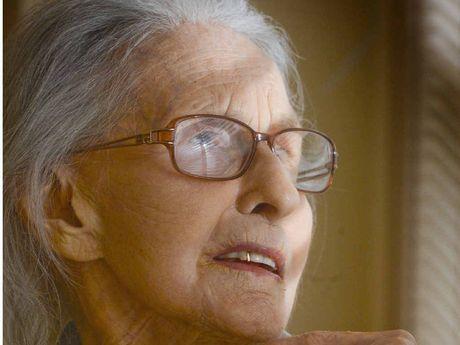 ALERT AND 100: Hazel Ridgway celebrates her 100th birthday. PHOTO: ADAM HOURIGAN