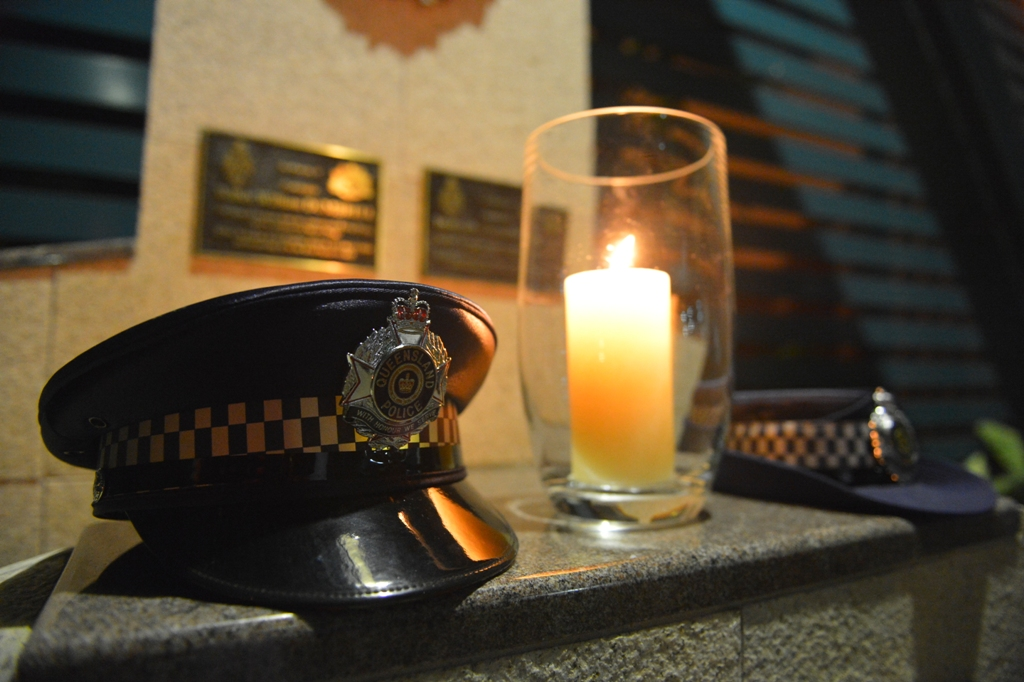 Gladstone Police held a candlelight vigil to honour fallen police officers in the line of duty.