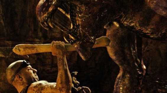 Vin Diesel in a scene from the movie Riddick.