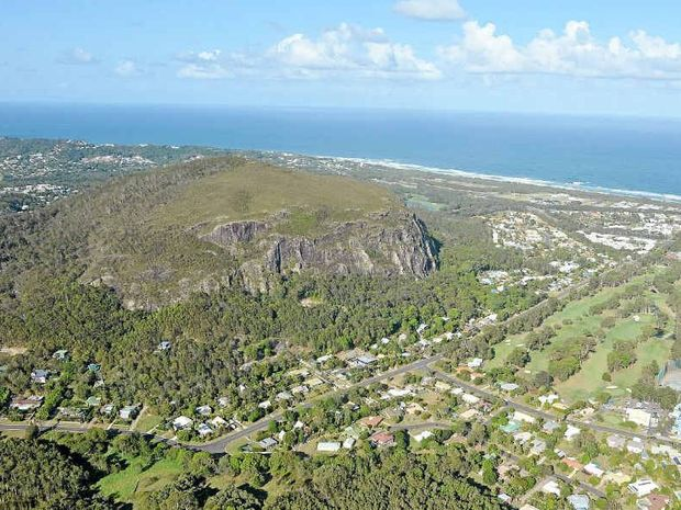 An aerial view of Mt Coolum. The view from the top is worth the climb.