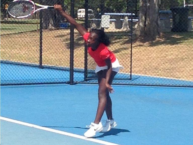Samantha Nyika at the Queensland Age Championships in Rockhampton.