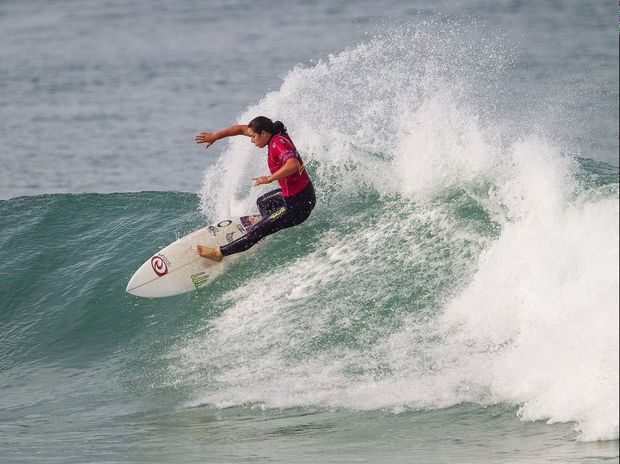 Tyler Wright of Lennox Head, NSW, Australia (pictured) placed runner-up at the Roxy Pro France after being defeated by Sally Fitzgibbons (AUS) in a nail-biting final at Le Penon Beach, Hossegor on Wednesday September 25, 2013. Despite posting a perfect 10-point ride in the final, Wright was not able to find a back-up score to defeat Fitzgibbons.
