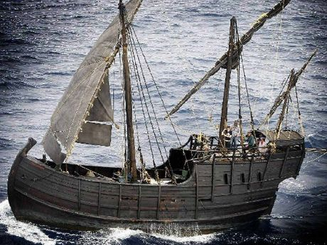 LANDING AT BALLINA: Notorious, a full-sized re-creation of a 15th century Spanish or Portuguese caravel, will sail into Ballina this weekend.