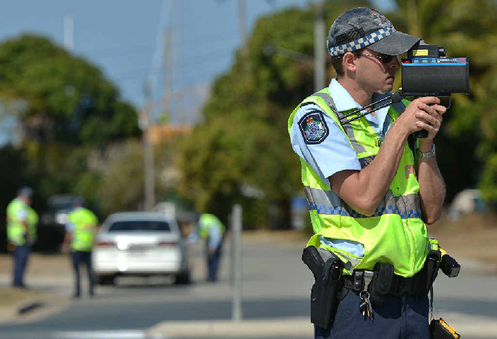 Mackay police officers were at the northern end of the Forgan Bridge yesterday targeting speeding and distracted drivers.