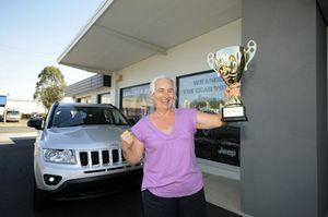 Julie Cowan of Lismore with her new Jeep Compass.