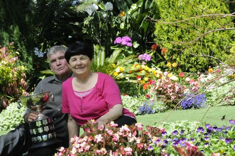 The Grand Champion winners for the Carnival of Flowers 2013 are Kelly and Cheryl Fry of Dallang Road.