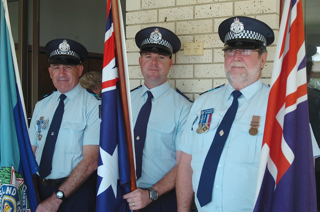 Some of the Fraser Coast's finest at the National Police Remembrance Day Service at Hervey Bay Uniting Church on Friday.