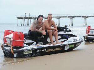 Bondi rescuers jet ski into Hervey Bay for Headspace