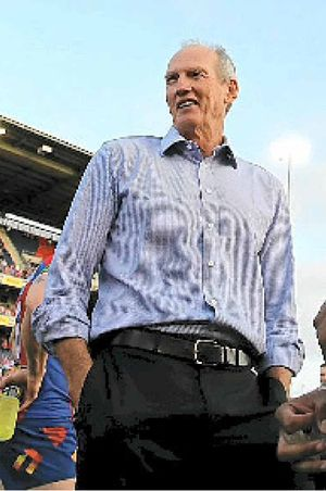 SENSE OF HUMOUR: Knights coach Wayne Bennett loves teasing reporters, especially this time of year.