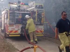 Alice St fire in Mayborough