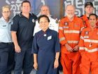 WELCOME HELP: Tzu Chi Foundation Gold Coast chapter chief executive Julia Vu meets fellow members and representatives of Ipswich-based SES groups and emergency personnel.