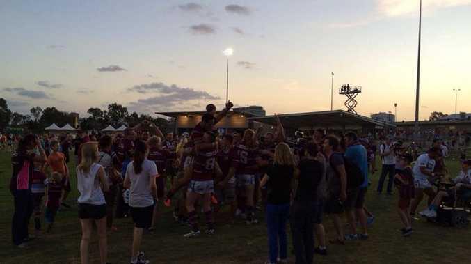 The Cutters celebrate after winning the 2013 Intrust Super Cup.