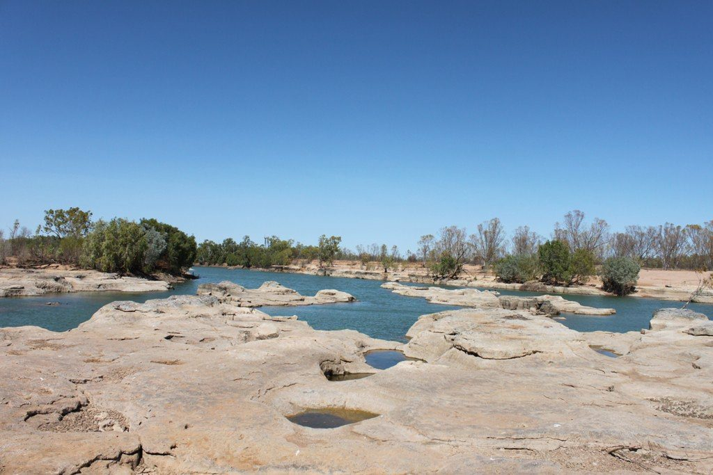 The rocky landscape at Leichhardt Falls, north of Normanton.