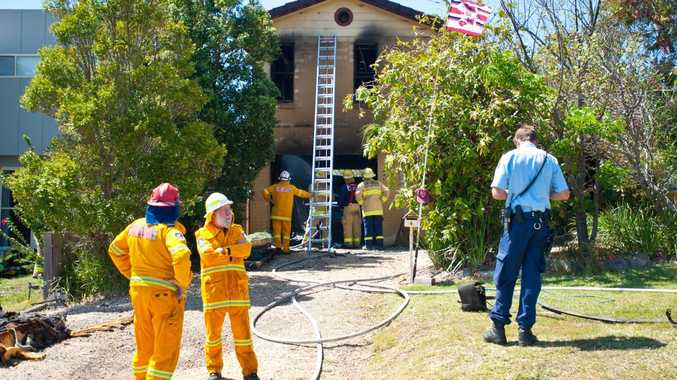 Firefighters saved a home from being completely destroyed by fire at Mullaway today.