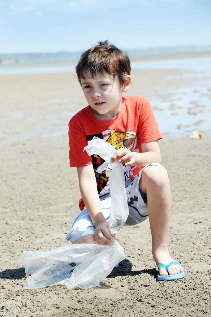 Seven-year-old Elliot Burns understands the importance of keeping rubbish out of our seaways after finding a dead turtle which seemed to have choked on plastic.