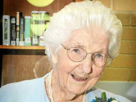 BIRTHDAY GIRL: Myrtle Todd celebrated her 100th birthday at St Joseph Nursing Home in Lismore.